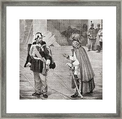 A Peace Conference. The Meeting Framed Print by Vintage Design Pics