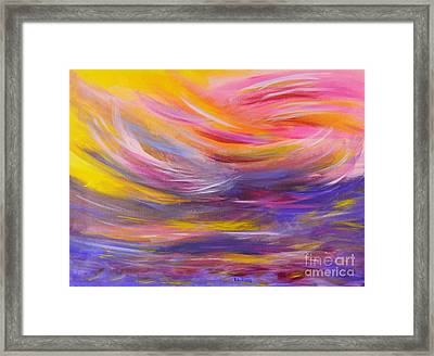 A Peaceful Heart - Abstract Painting Framed Print