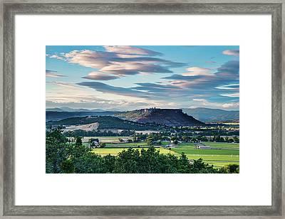 A Peaceful Land Framed Print