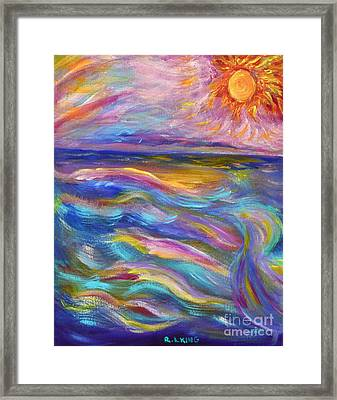 A Peaceful Mind - Abstract Painting Framed Print