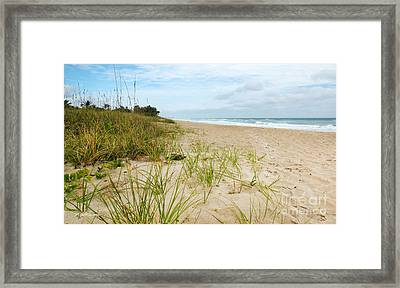A Peaceful Place By The Sea Framed Print