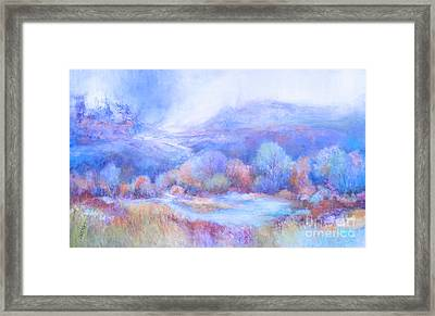 A Peaceful Place Framed Print by Glory Wood