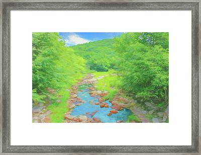 A Peaceful Summer Day In Southern Vermont. Framed Print