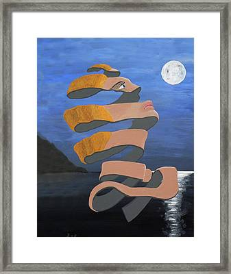 Framed Print featuring the painting A-pealing by Eric Kempson