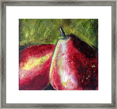 A Pear Framed Print by Karla Phlypo-Price