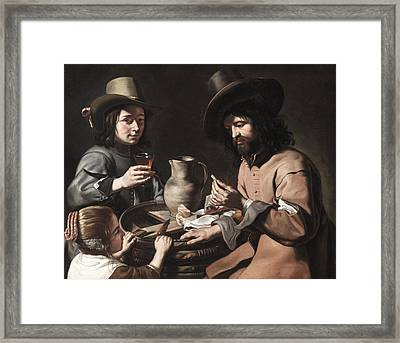 A Peasant Family Framed Print by The Master of the Games