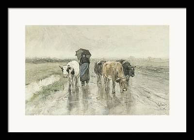 Country Lanes Drawings Framed Prints