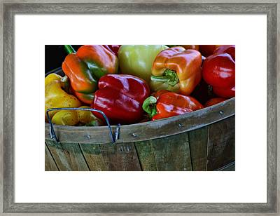 A Peck Of Peppers Framed Print