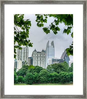 A Peek At The Atlanta Skyline Framed Print