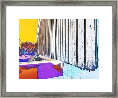 A Peek Beneath The Bridge - Abstract Framed Print by Scott D Van Osdol