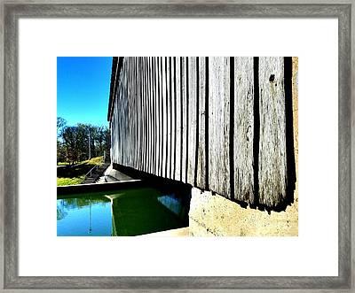 A Peek Beneath The Bridge  Framed Print by Scott D Van Osdol