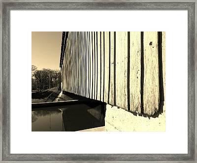 A Peek Beneath The Bridge - Sepia Framed Print by Scott D Van Osdol