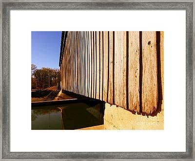 A Peek Beneath The Bridge - Setting Sun Framed Print by Scott D Van Osdol