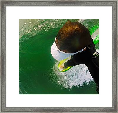 A Pelican's View Framed Print