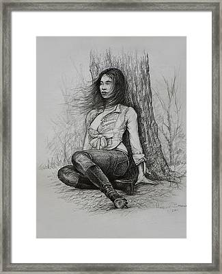 A Pensive Mood Framed Print by Harvie Brown