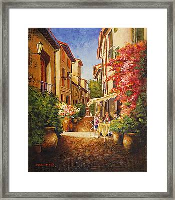 A Perfect Afternoon In Provence Framed Print by Santo De Vita