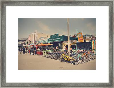 A Perfect Day For A Ride Framed Print