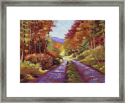 A Perfect Day In New Hampshire Framed Print