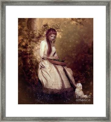 Framed Print featuring the digital art Lost In Thought by Shanina Conway