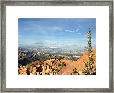 A Perfect Spot At Bryce Canyon Framed Print