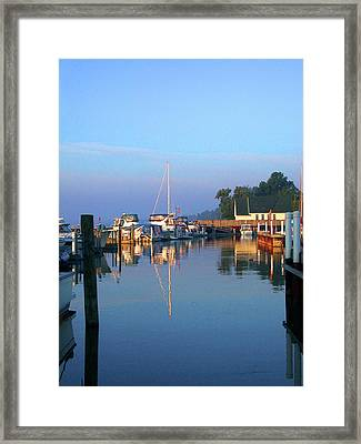 A Perfect Tawas Morning Framed Print