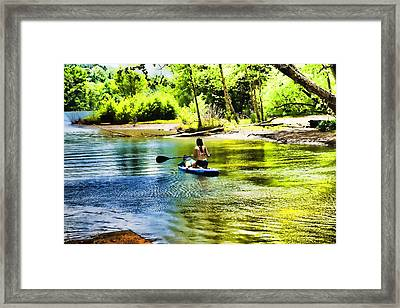 A Relaxing Day Framed Print