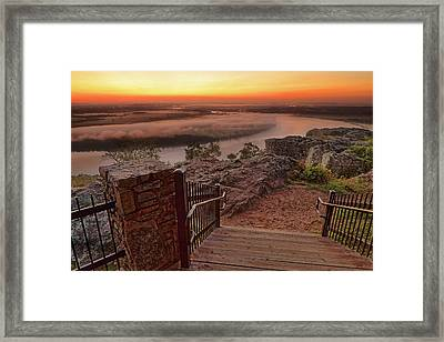 Framed Print featuring the photograph A Petit Jean Sunrise - Arkansas - Landscape by Jason Politte