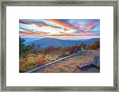A Photographer's Palette - Talimena Scenic Byway Framed Print by Gregory Ballos