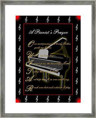 A Pianists Prayer_1 Framed Print by Joe Greenidge
