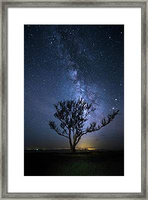 A Picnic Under The Milky Way Framed Print