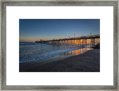 A Piers To Be Last Light Framed Print