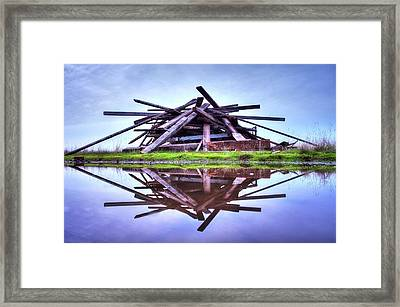 Framed Print featuring the photograph A Pile Of Wood by Quality HDR Photography