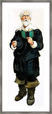 A Pilgrim Father Giving Thanks Framed Print by Angus McBride