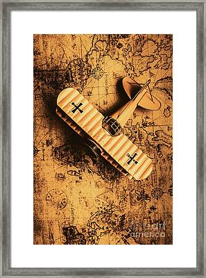 A Pilots Vintage Adventure  Framed Print by Jorgo Photography - Wall Art Gallery