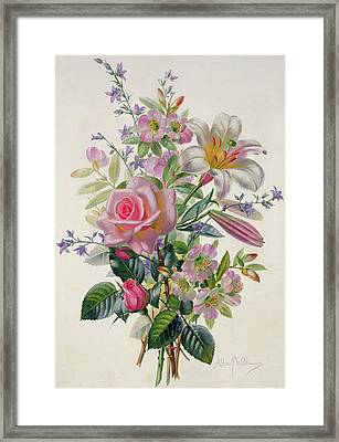 A Pink Bouquet Framed Print by Albert Williams