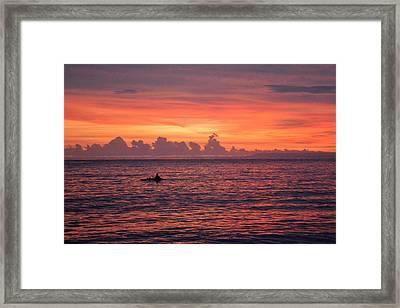 A Pink Sunset Framed Print