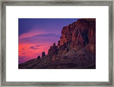 A Pink Supes Sunset  Framed Print