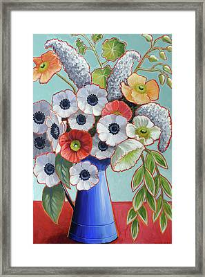A Pitcher Of Anemones Framed Print