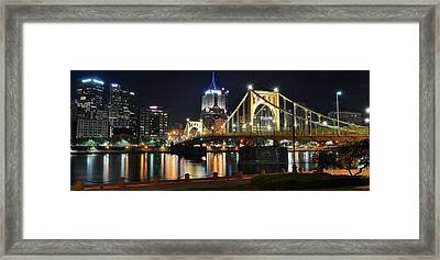 A Pittsburgh Panorama Framed Print