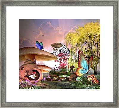 A Pixie Garden Framed Print
