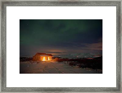 Framed Print featuring the photograph A Place For The Night, South Of Iceland by Dubi Roman