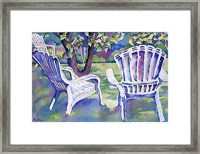 A Place In The Shade Framed Print by Barbara Jung