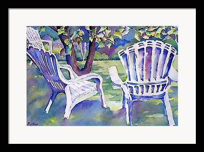 Lawn Chair Mixed Media Framed Prints