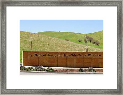A Place Of Honor Framed Print