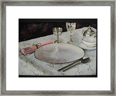 A Place Setting Framed Print by Dwight Williams