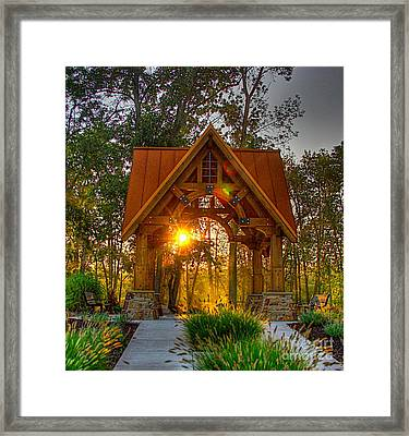A Place To Pray-3 Framed Print by Robert Pearson