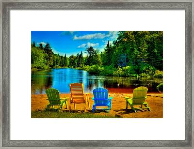 A Place To Relax At Singing Waters Framed Print