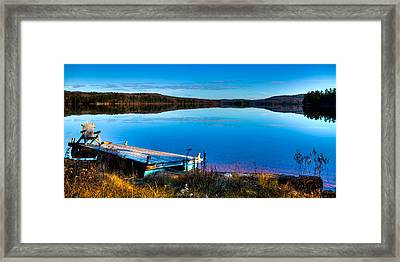 A Place To Relax On 7th Lake Framed Print by David Patterson