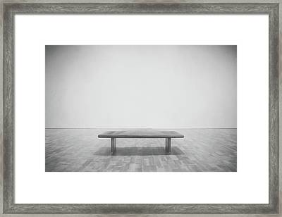 A Place To Sit 3 Framed Print by Scott Norris
