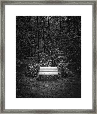 A Place To Sit Framed Print by Scott Norris